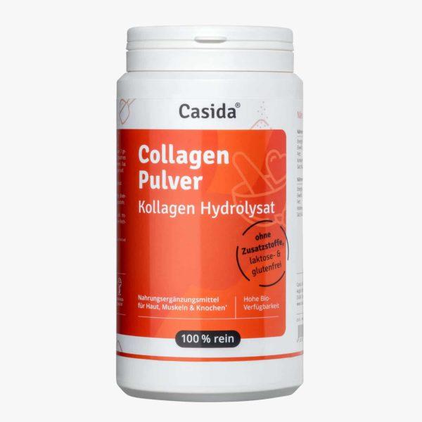 Casida Collagen Pulver Kollagen Hydrolysat Peptide Rind – 480 g 15266086 PZN Apotheke Peptide Typ I II III Eiweiß Shake trinken Gelenke Anti-Aging