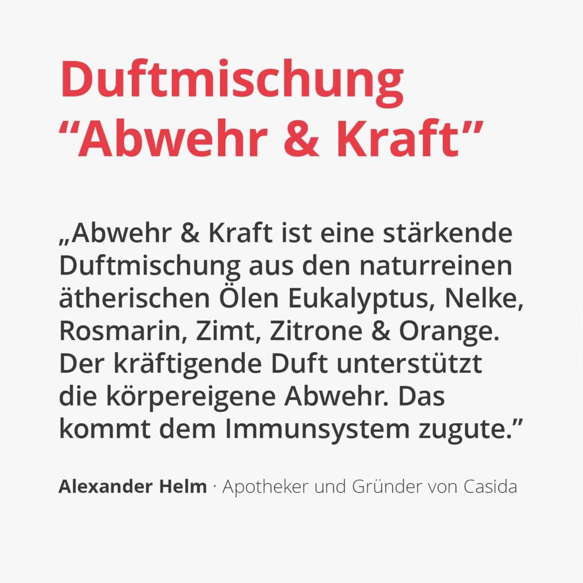 Casida Duftmischung Abwehr & Kraft - 5 ml 16913323 PZN Apotheke Immunsystem stärkend Aromatherapie Aromapflege Corona Grippe Abwehrkräfte Diffuser