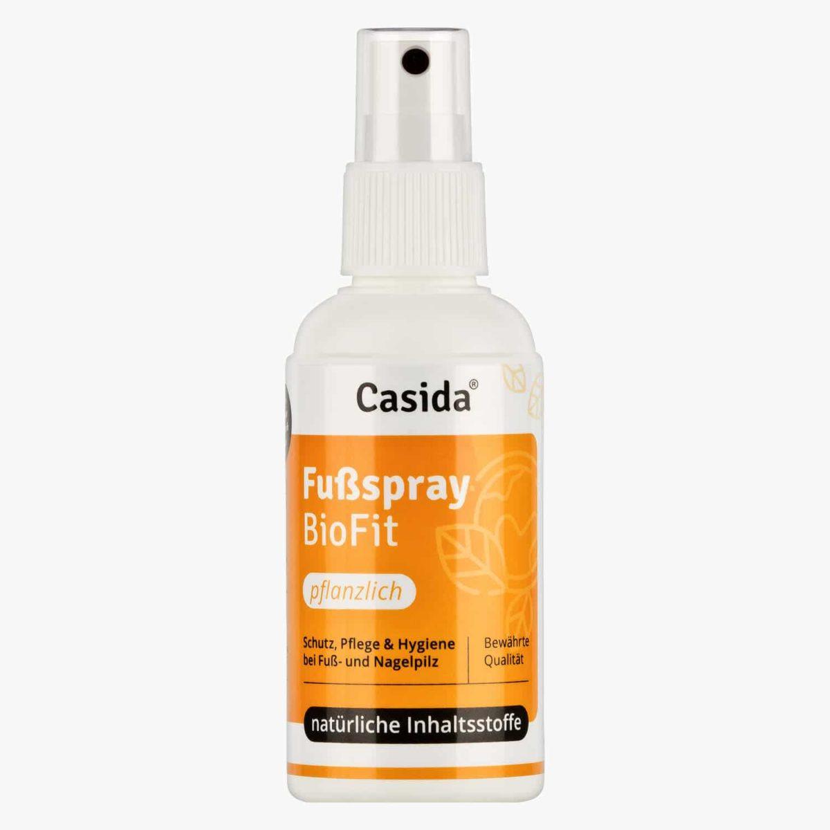 Casida Fußspray BioFit Pflanzlich 100 ml PZN DE 10751322 PZN AT 4285761 UVP 14,95 € EAN 4260518460765 Pilzsporen