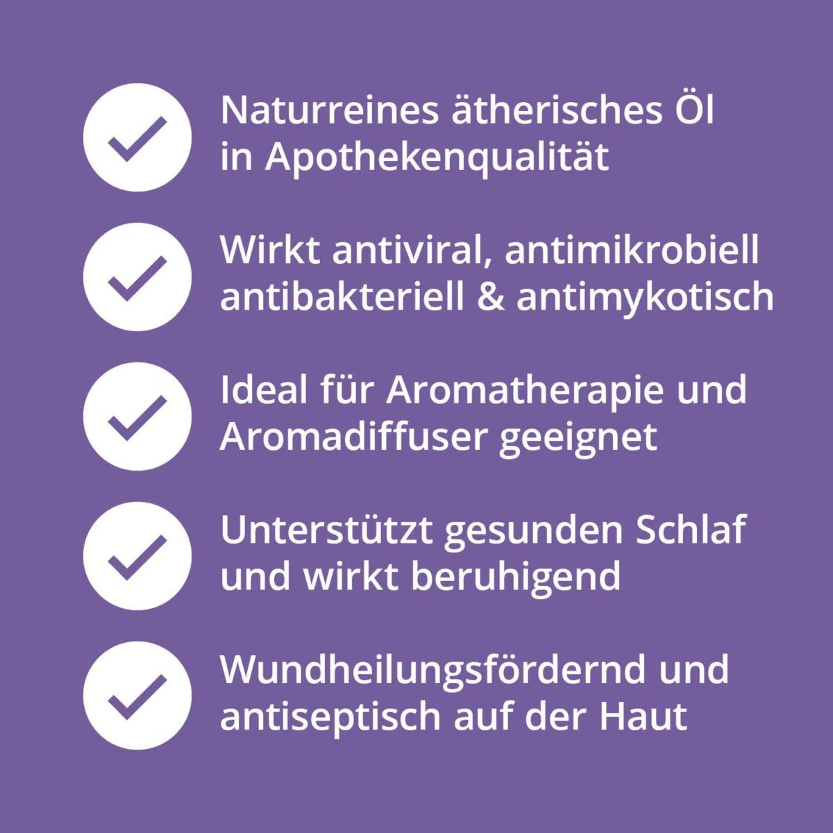 Casida Lavendelöl naturrein – 10 ml 15880722 PZN Apotheke Lavandula angustifolia Diffuser pur anwenden Schlaf Beruhigung (9)