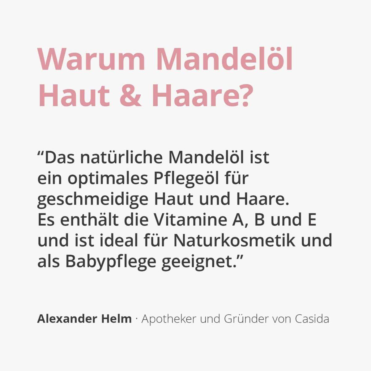 Casida Almond Oil for Skin & Hair – 200 ml 16813099 PZN Apotheke Mandelöl Babypflege trockene Haut pflegen natürlich2