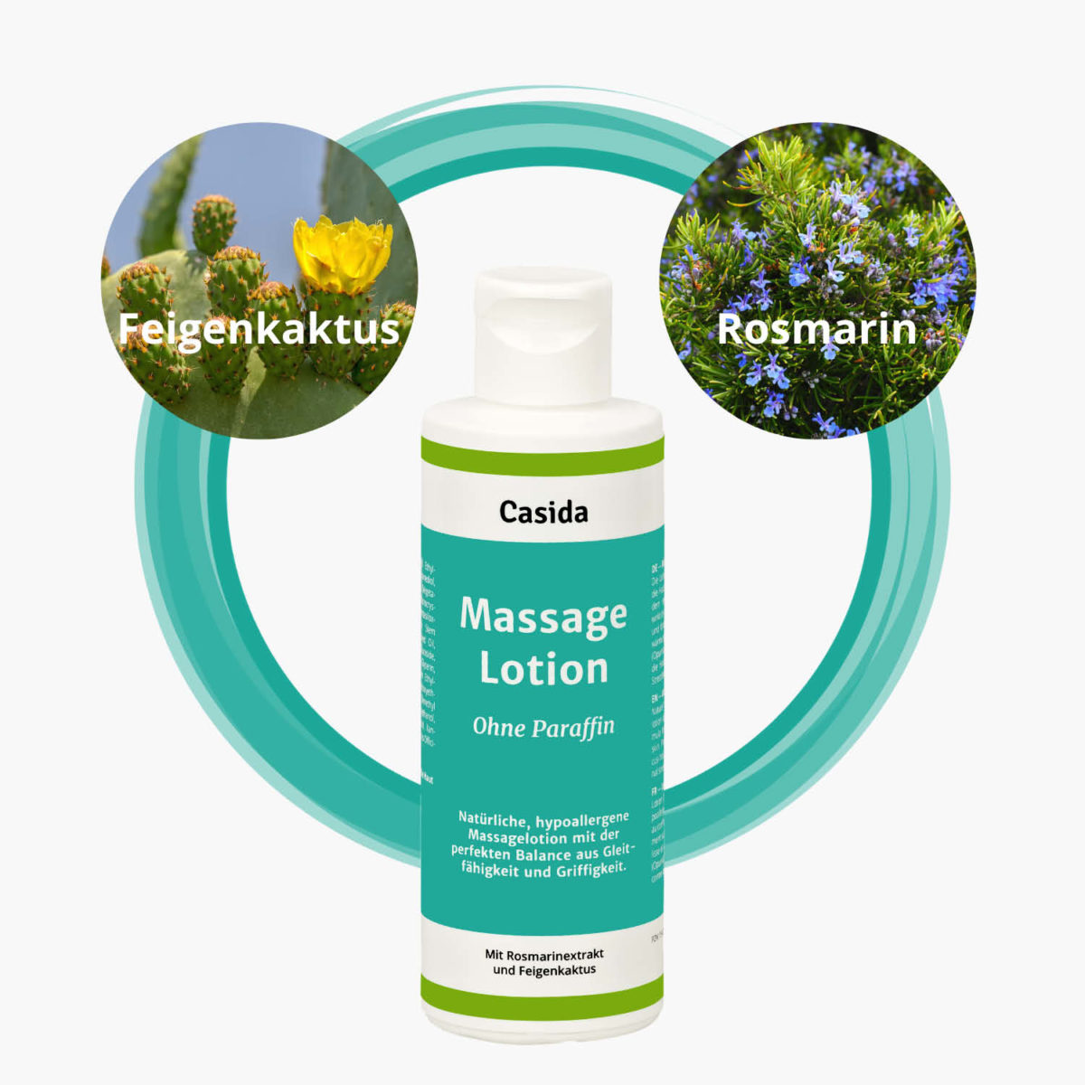 Casida Massagelotion Natural ohne Paraffin – 200 ml 500 ml 15409953 PZN Apotheke Massage Schröpfen pflanzlich Feigenkaktus Rosmarin5