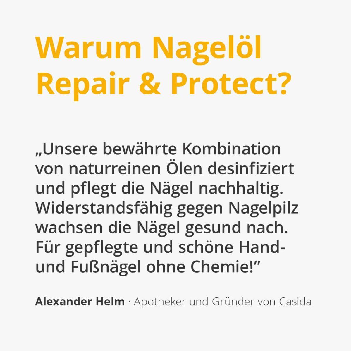 Casida Nail Oil Repair & Protect 10 ml PZN 10022445 Apotheke Nagelpilz Füße Hände2