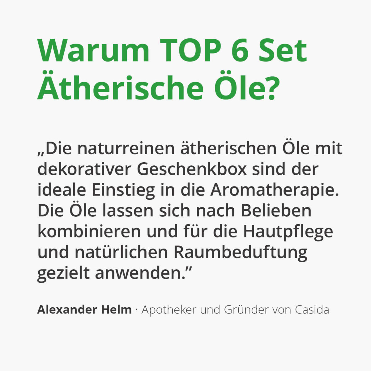 Casida TOP 6 essential oil set (each 10 ml) 16247292 Aromatherapie Aromapflege Lemongras Pfefferminz Lavendel Orange Rosmarin Teebaum2