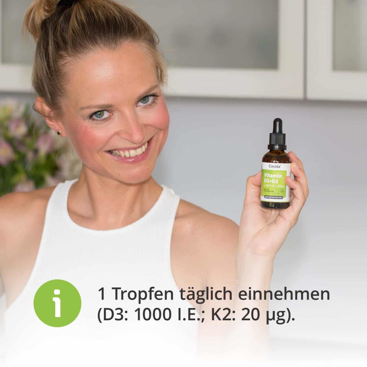 Casida Vitamin D3 1000 I.U. + K2 20 μg Drops – 50 ml 16672026 PZN Apotheke hochdosiert Immunsystem Magnesium Calcium6