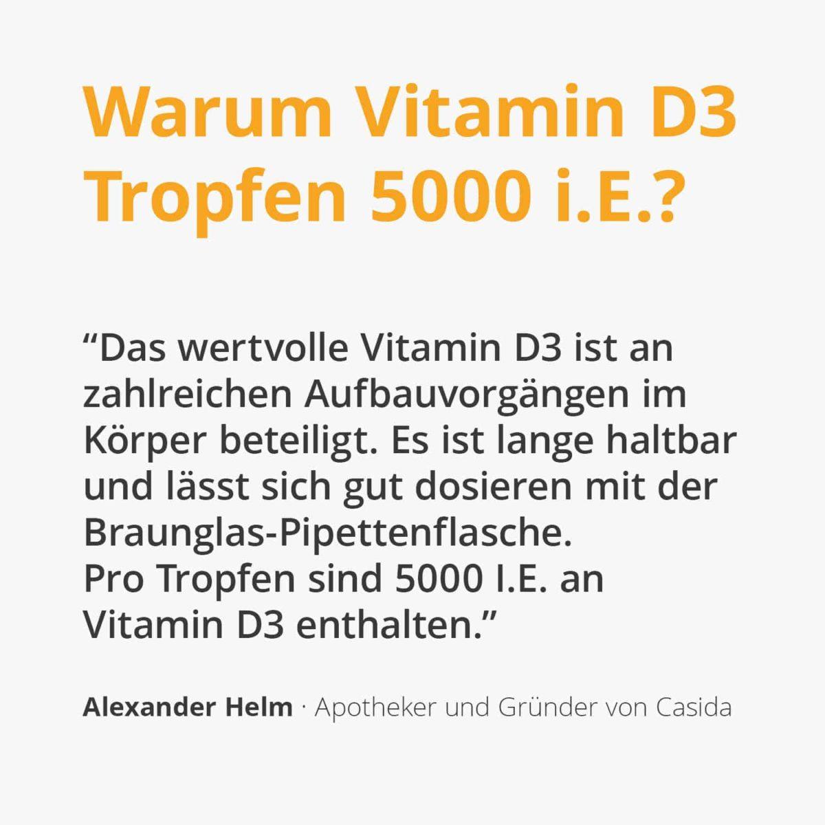 Casida Vitamin D3 Oil Drops Vital 5000 I.U. – 50 ml 16672032 PZN Apotheke hochdosiert Immunsystem Magnesium Calcium Aufnahme2
