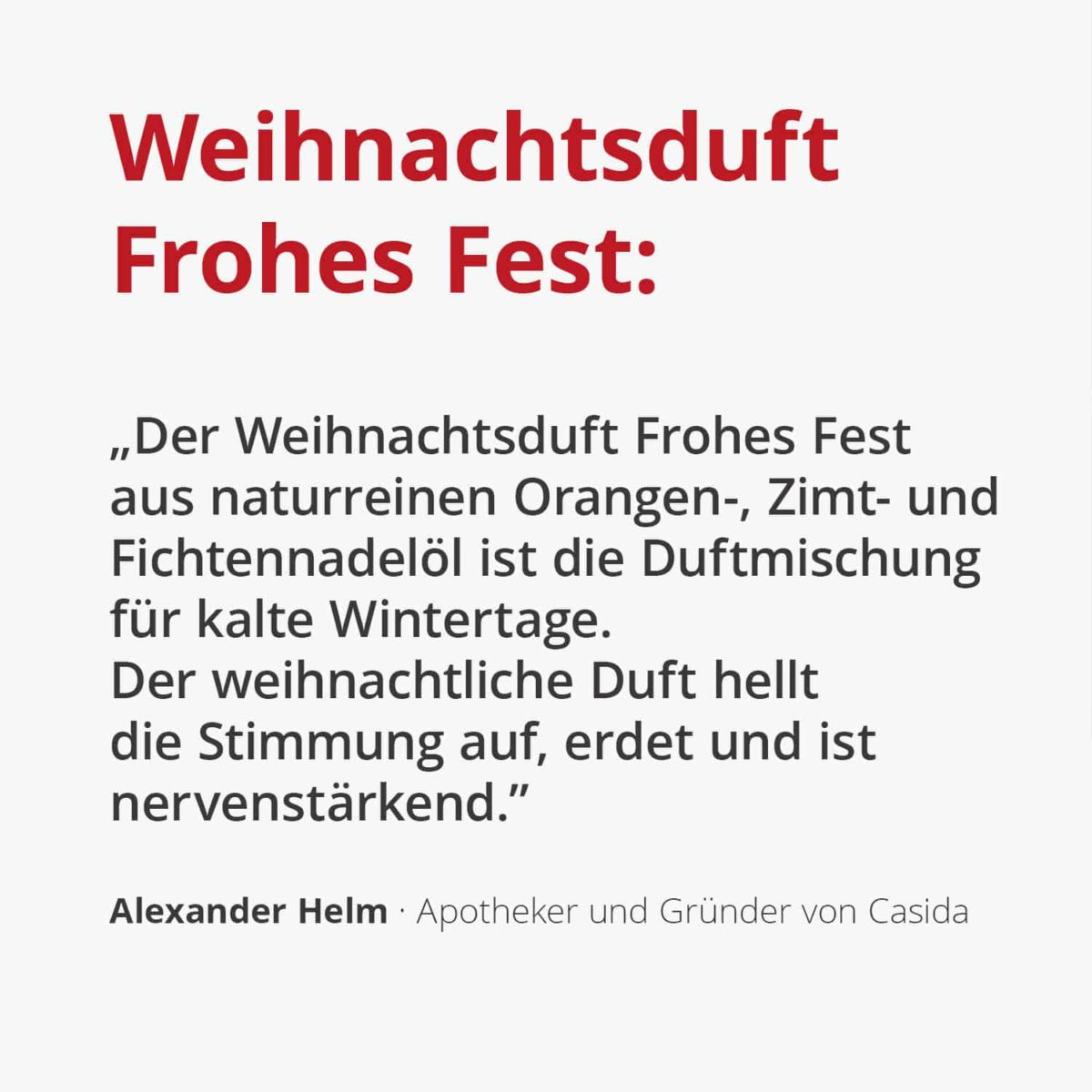 Casida Weihnachtsduft Frohes Fest - 10 ml 16852194 Ätherisches öl naturrein Orange Fichte Zimt Weihnachtsland2