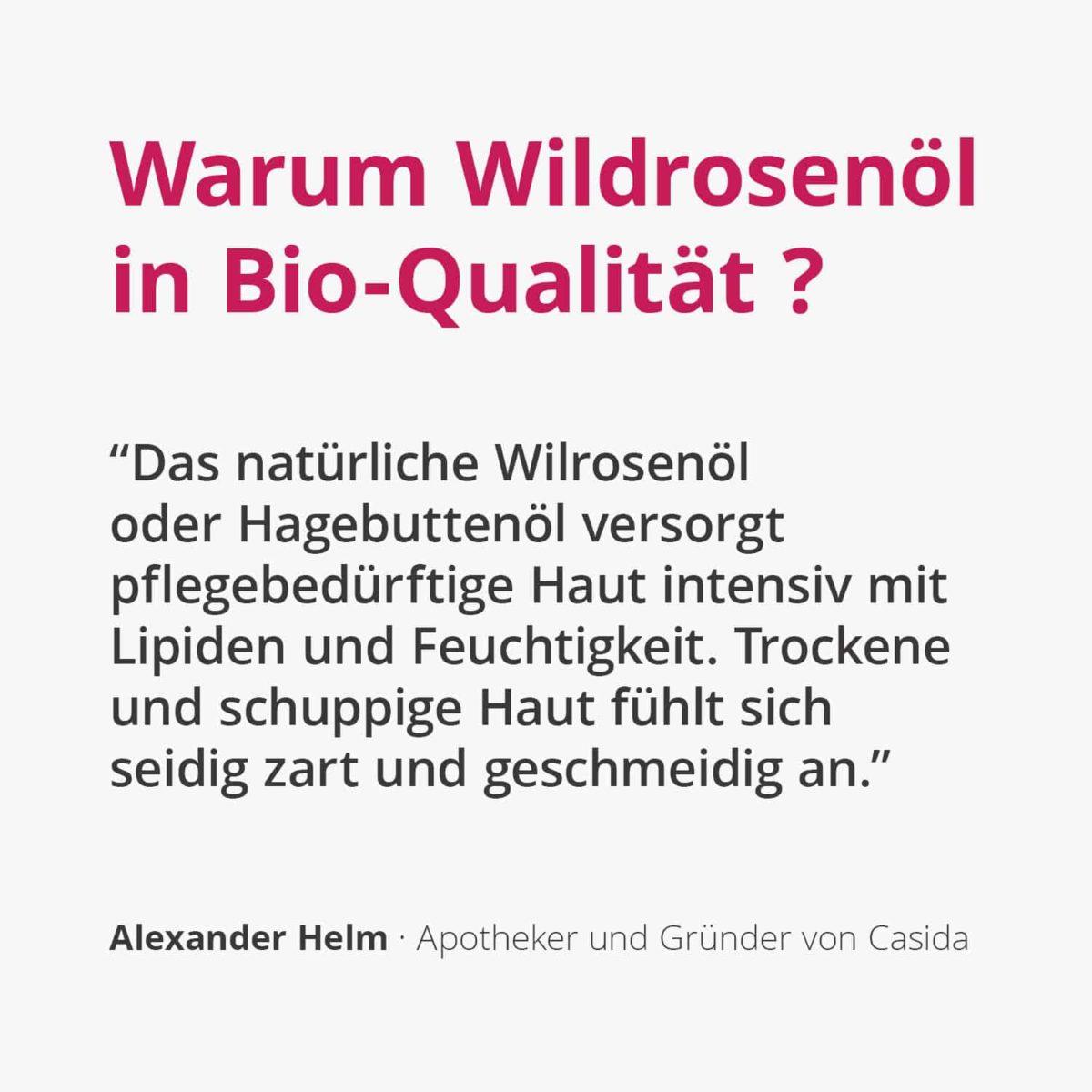 Casida Wildrosenöl Hagebuttenöl – 50 ml 16812378 PZN Apotheke Anti-Aging Massage trockene Haut pflegen Bioqualität2
