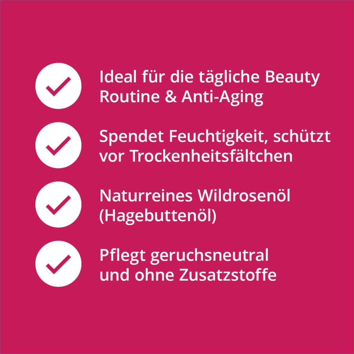 Casida Wildrosenöl Hagebuttenöl – 50 ml 16812378 PZN Apotheke Anti-Aging Massage trockene Haut pflegen Bioqualität7