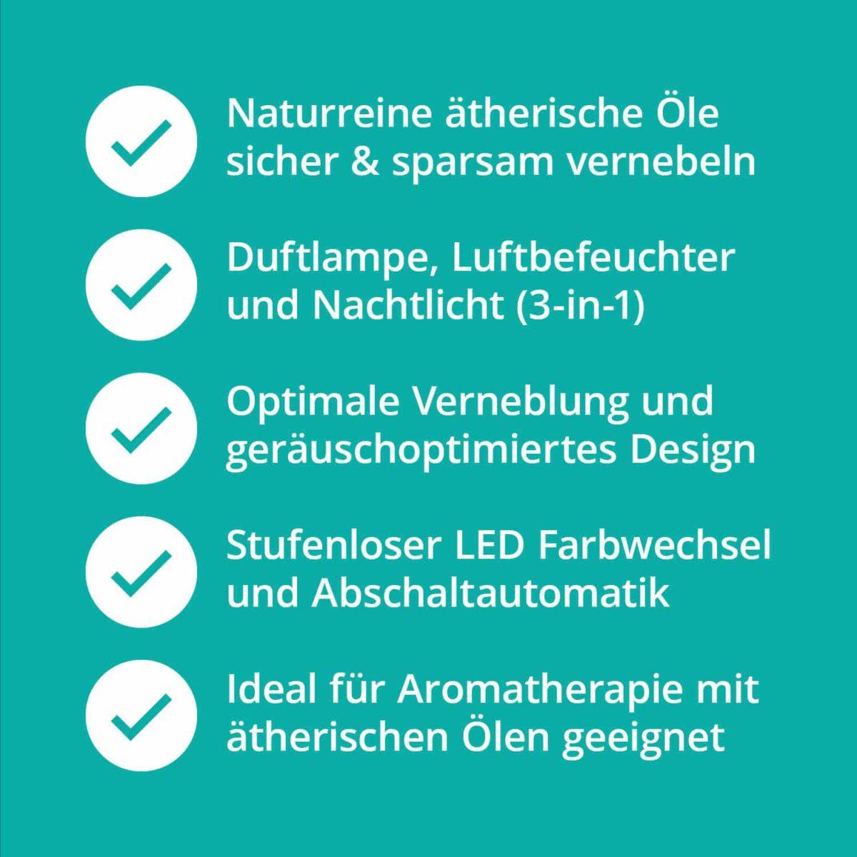 Casida Aroma Diffuser White Hood Wood Print LED-illumination 17179347 PZN Apotheke ätherische Öle Vernebler Aromatherapie Schule Büro Kita7