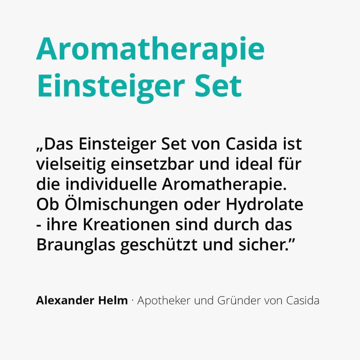 Casida Aromatherapie Einsteiger Set A3230241 Roll On Sprühflasche 10 ml 20 ml 100 ml ätherische Öle Braunglas2