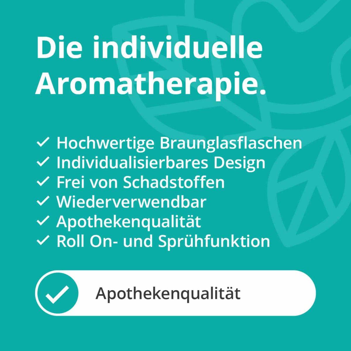 Casida Aromatherapie Einsteiger Set A3230241 Roll On Sprühflasche 10 ml 20 ml 100 ml ätherische Öle Braunglas5