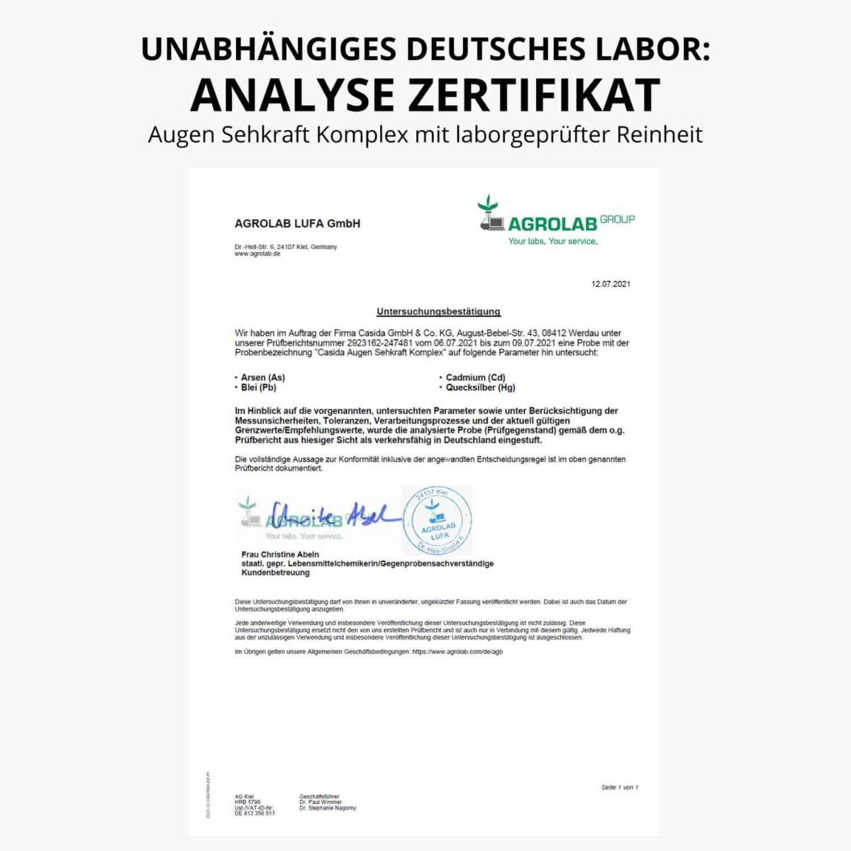 Agrolab certifikate