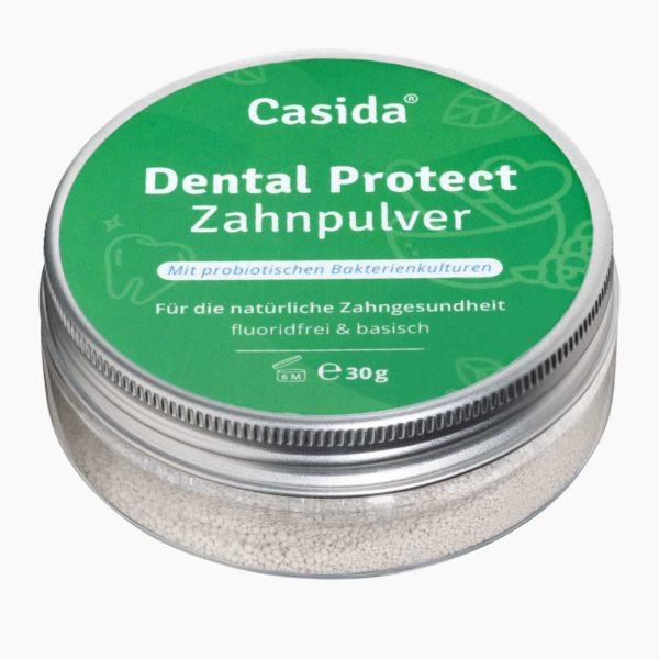 Casida Dental Protect Zahnpulver 30 g 16918444 PZN Apotheke UVP 13,95 € EAN 4260518460925 Mundflora ohne Flourid Zahnpasta