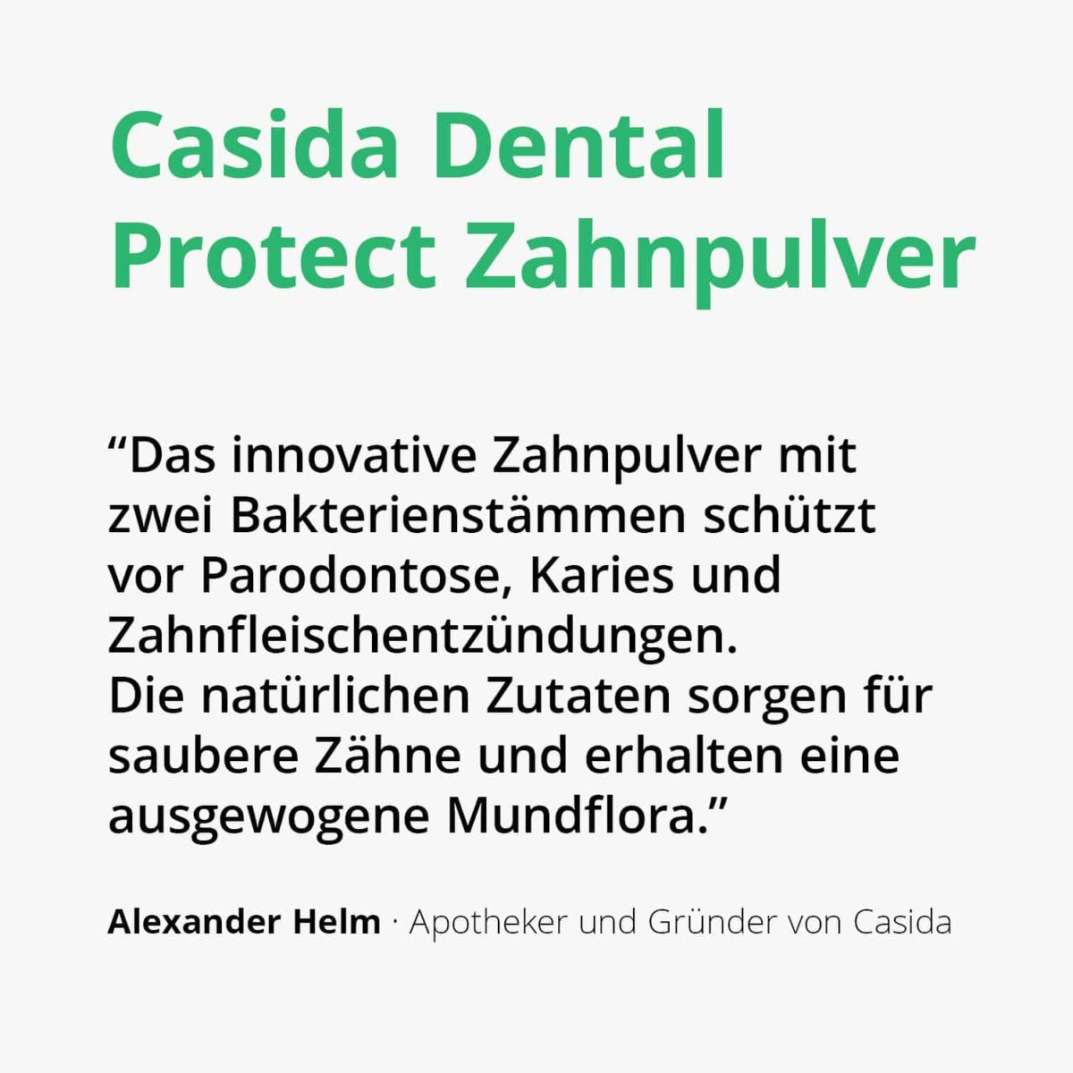 Casida Dental Protect Tooth Powder 30 g 16918444 PZN pharmacy caries Dental care periodontal disease gums oral flora protection