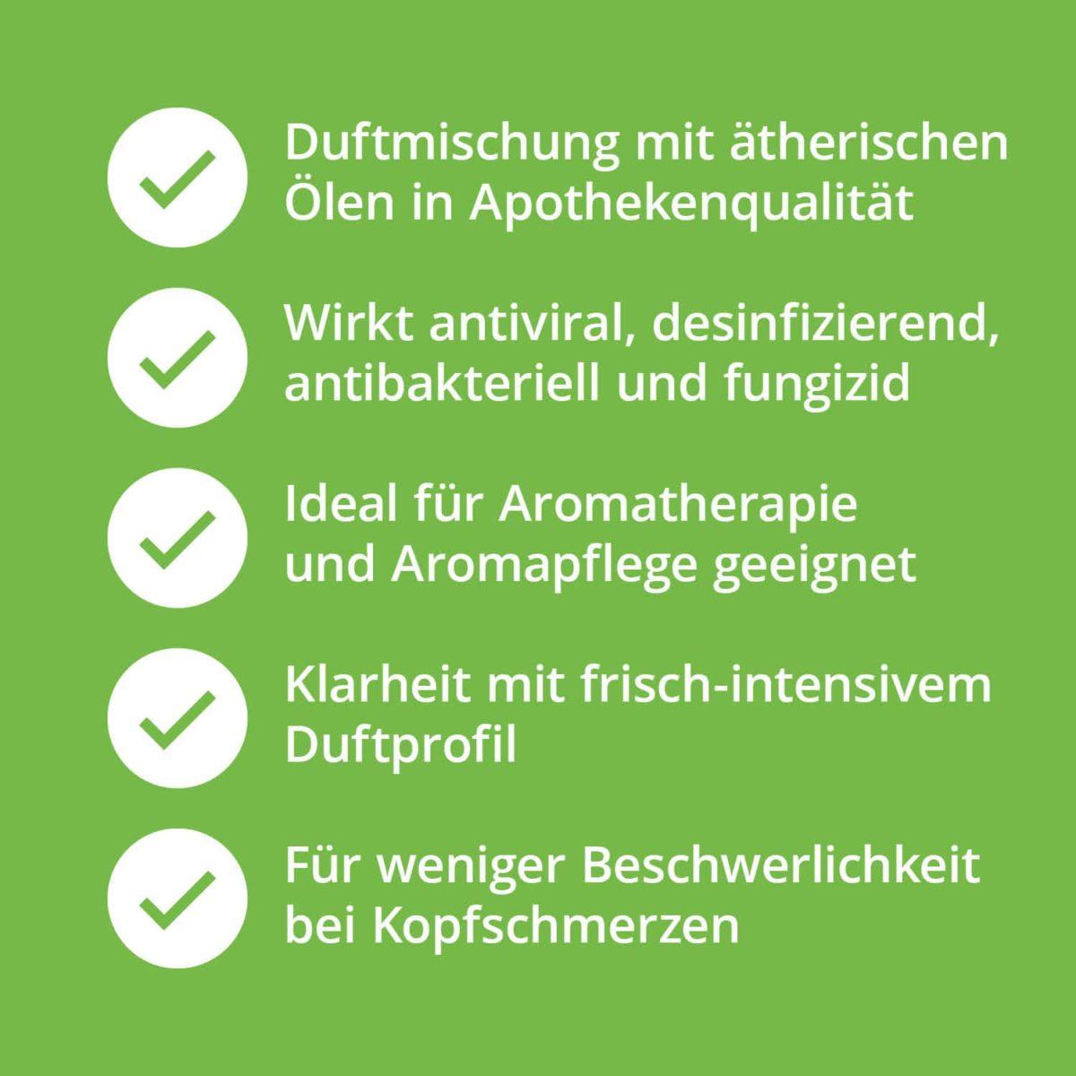 Casida Duftmischung Befreiter Kopf - 5 ml 17394523 PZN Apotheke Kopfschmerzen Aromatherapie Aromapflege Aromaschmuck Diffuser7
