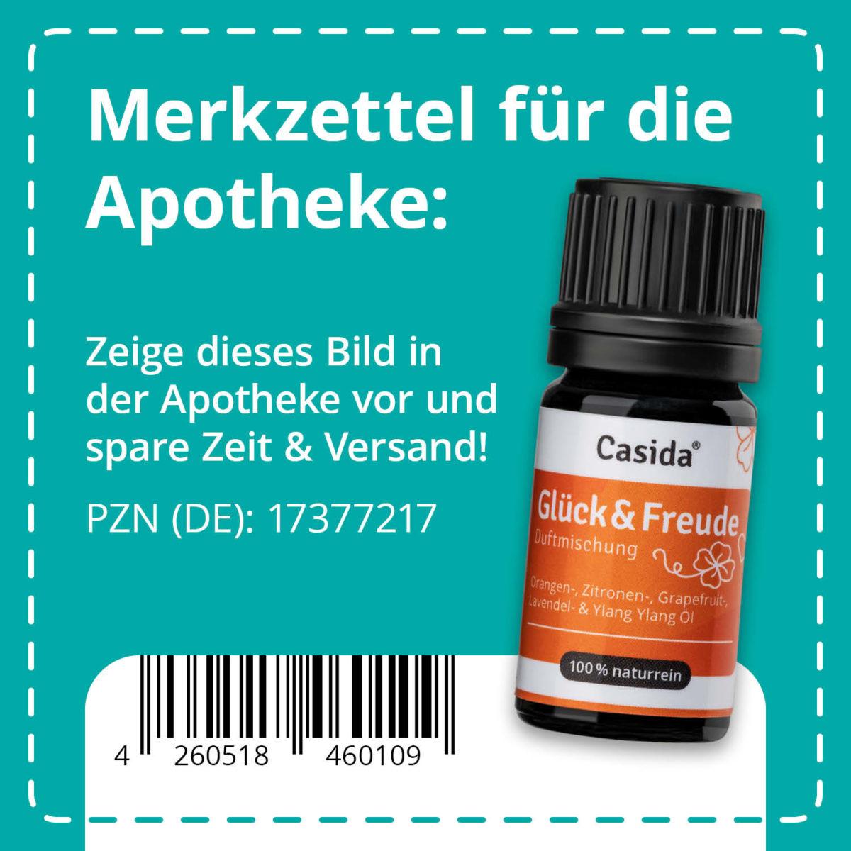 Casida Duftmischung Glück & Freude - 5 ml 17377217 PZN Apotheke aufheiternd gute laune Aromatherapie Aromapflege Aromaschmuck Diffuser9