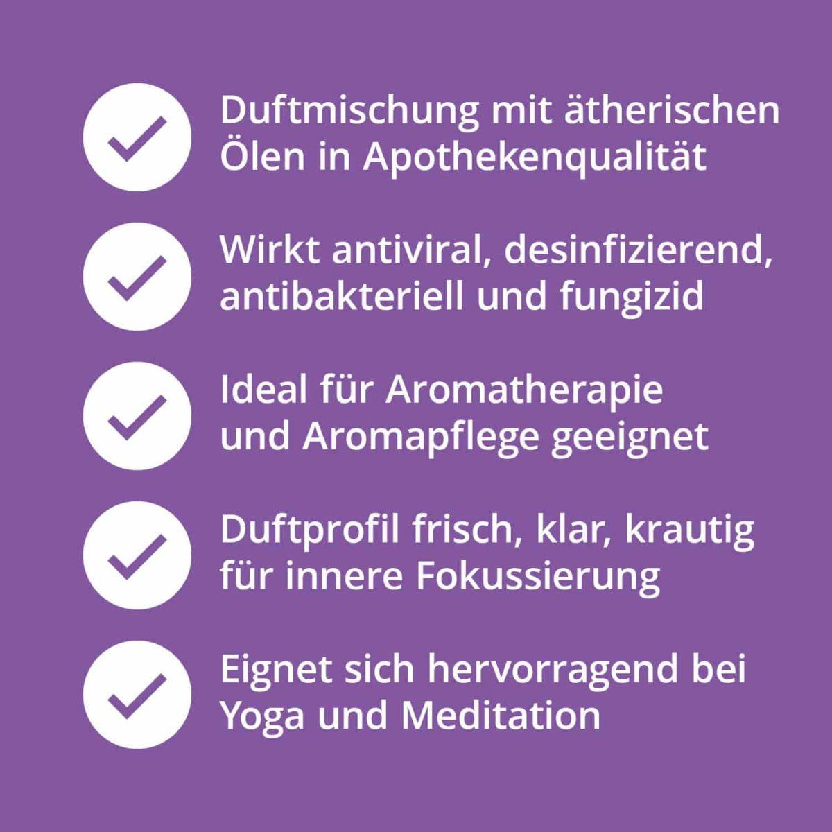 Casida Duftmischung Klare Gedanken - 5 ml 17394500 PZN Apotheke Fokussierung Aromatherapie Aromapflege Aromaschmuck Diffuser7