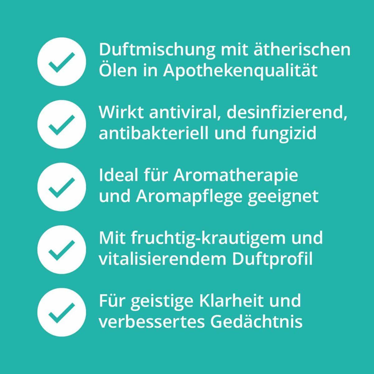 Casida Focusing Aroma-Blend Konzentration & Fokus - 5 ml 17377200 PZN Apotheke Energie Gedächtnis Aromatherapie Aromapflege Aromaschmuck Diffuser7
