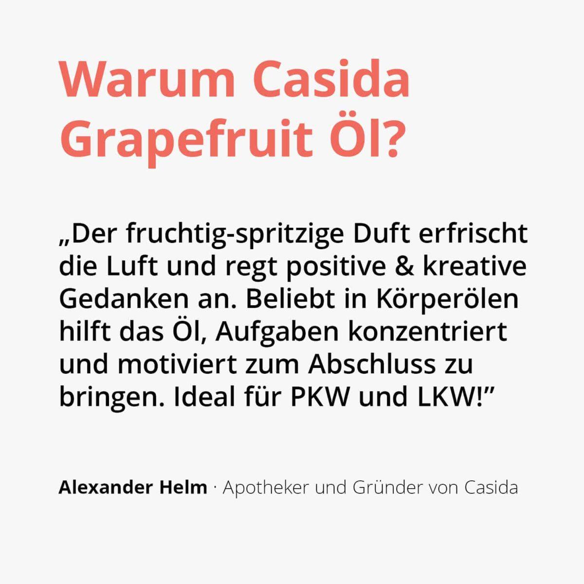 Casida Grapefruit Öl - 10 ml citrus paradisi naturrein 17377192 PZN Apotheke ätherische Öle Diffuser Celluite Hautpflege adstringierend2