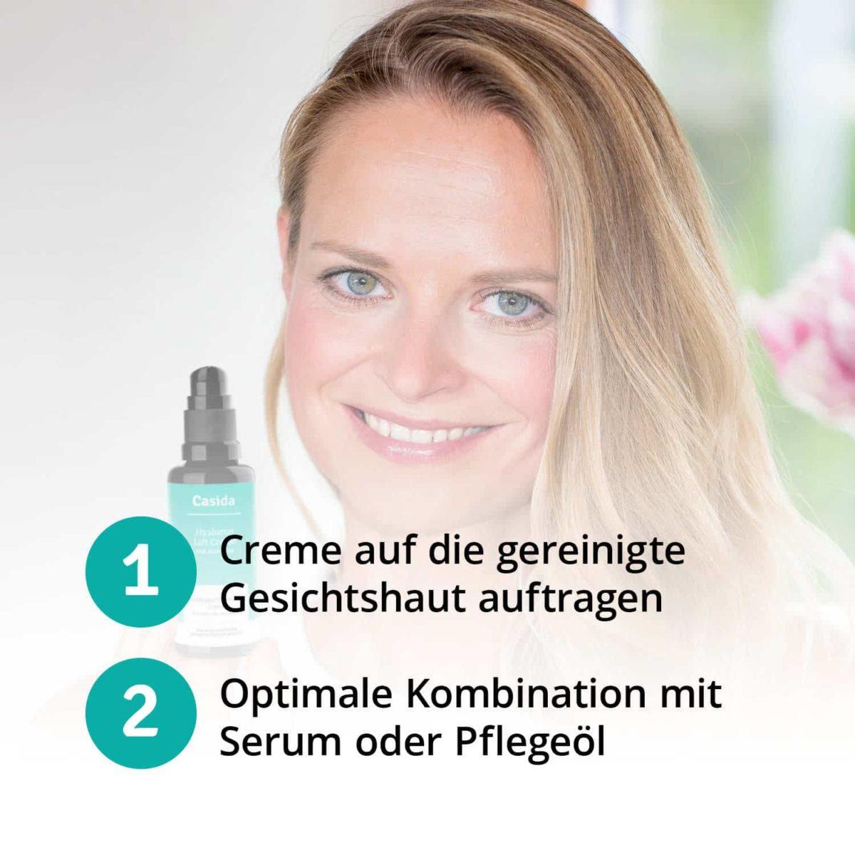 Casida Hyaluronic Acid Lift Cream with Aloe Vera 50 ml 16813082 PZN Apotheke Sommercreme Hyaluronsäure nicht-komedogen6
