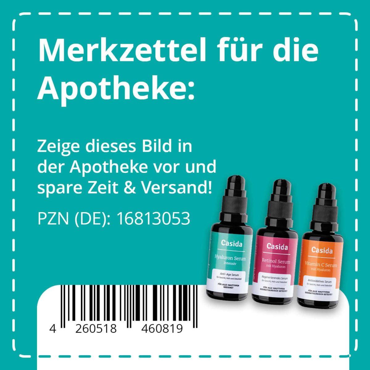 Casida Anti-Aging Set Seren & Mizellenwasser 3x30 ml PZN DE 16813053 UVP 69,95 € EAN 4260518460819