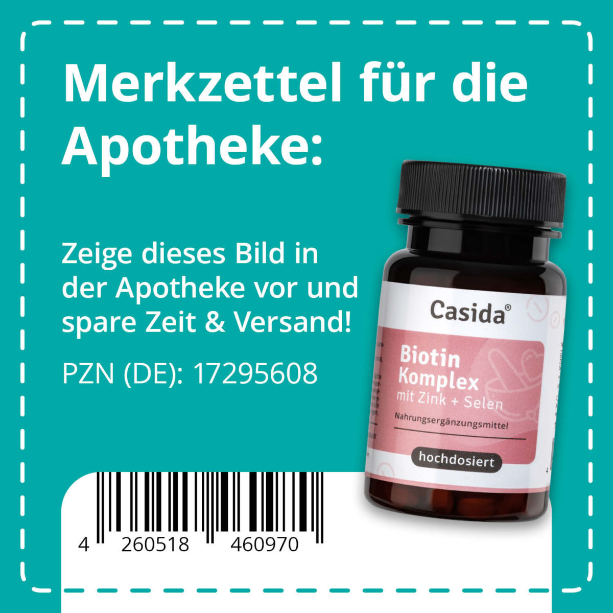 Casida Biotin complex - 10 mg 17295608 PZN pharmacy zinc selenium beautiful hair pregnancy skin