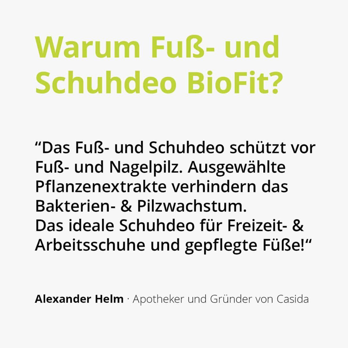Casida Fuß- und Schuhdeo BioFit Pflanzlich 100 ml 10751316 PZN Apotheke Nagelpilz Fußpilz Schweißfüße2