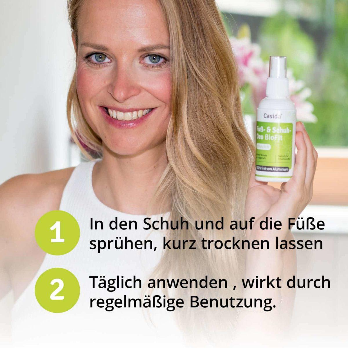 Casida Fuß- und Schuhdeo BioFit Pflanzlich 100 ml 10751316 PZN Apotheke Nagelpilz Fußpilz Schweißfüße6
