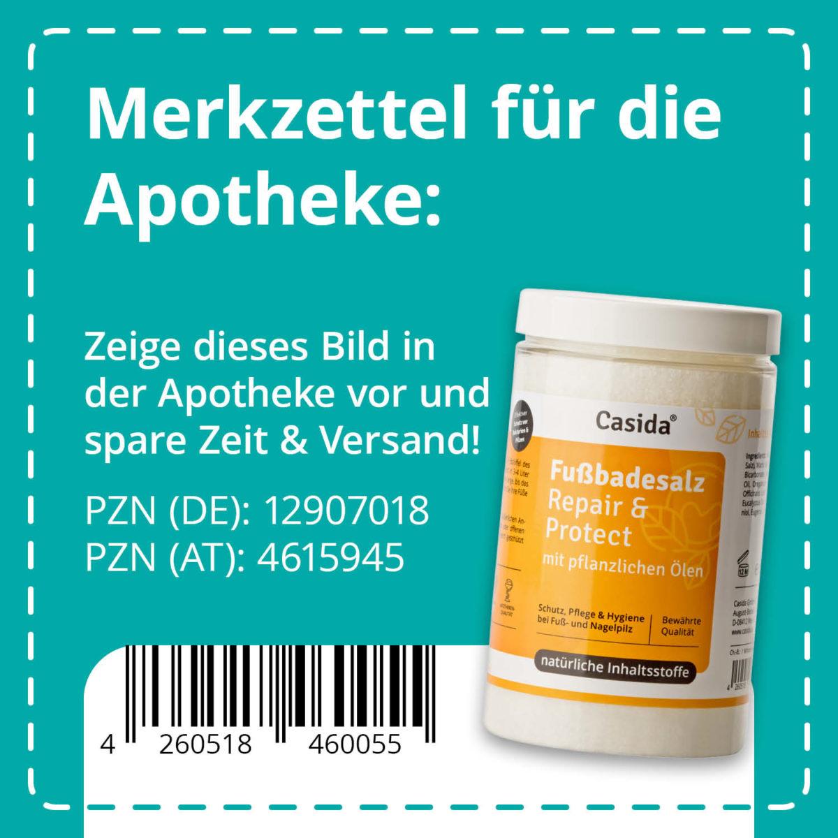 Casida Foot Bath Salt Repair & Protect 375 g 12907018 PZN pharmacy nail fungus toe fungus