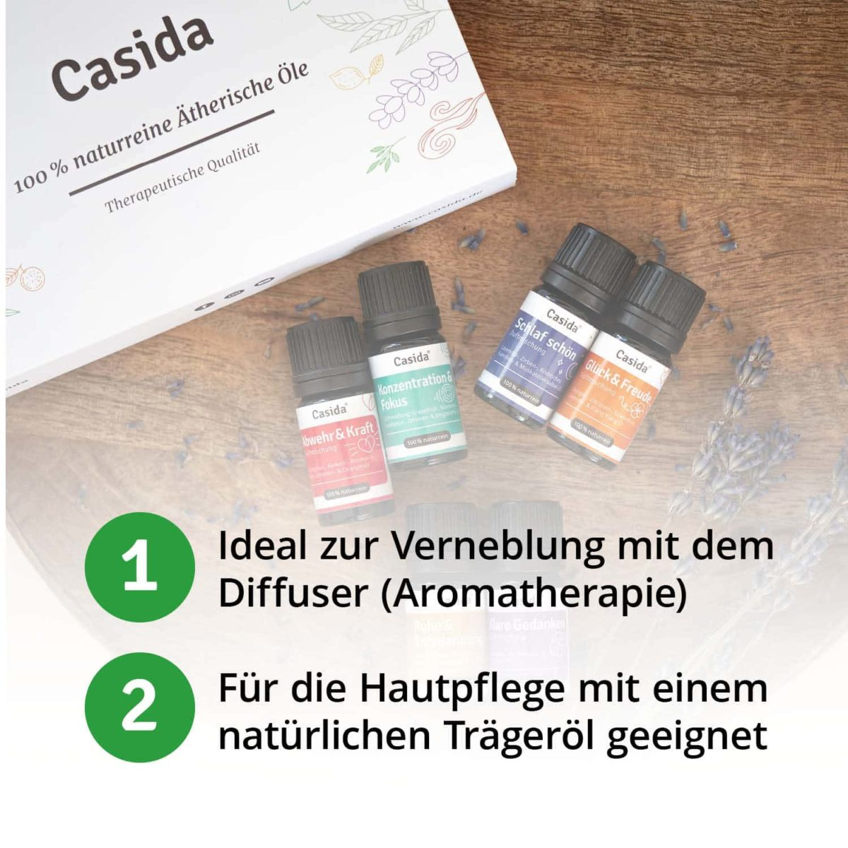 Casida TOP 6 Essential Oil Blends Box Set (each 5 ml) 17582437 PZN pharmacy oil blends aromatherapy aroma diffuser
