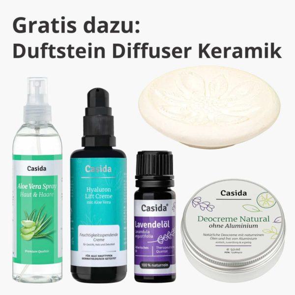 Hautpflege Set Urlaub Reise Aloe Vera Hyaluron Creme Lavendelöl Deocreme