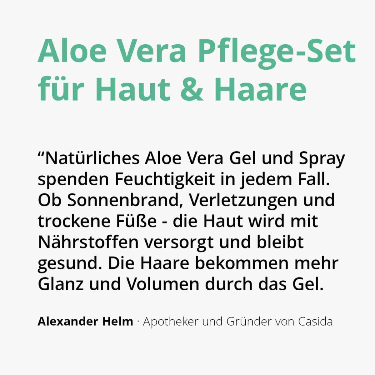 Set Aloe Vera Pflege-Set Gel Spray PZN 16573212 16813047 (2)